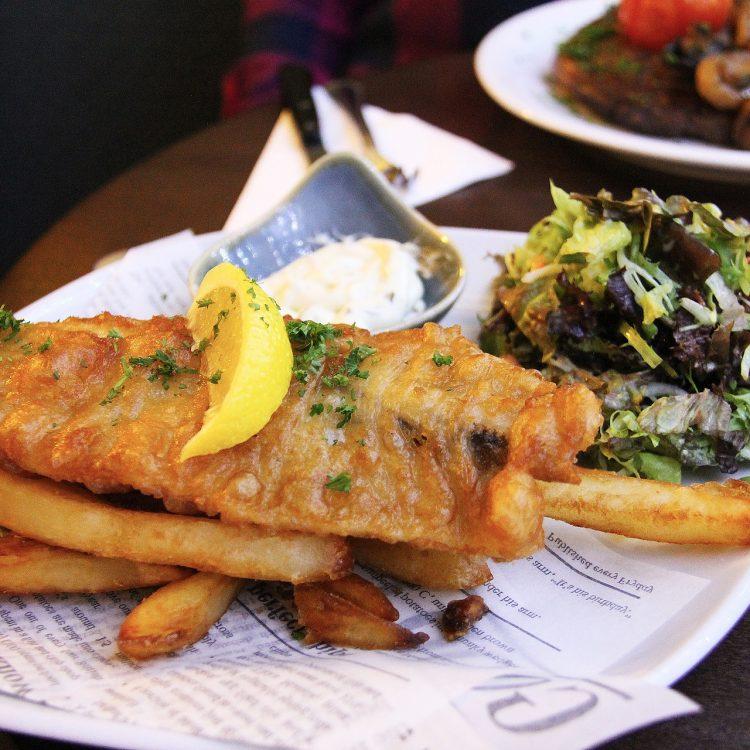Frischer Fisch im Restaurant